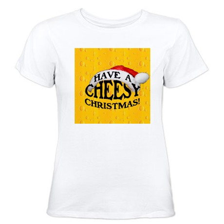 Cheesy Christmas t-shirt from Cafepress.com