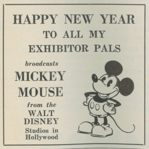 Old Micky Mouse New Year's Ad