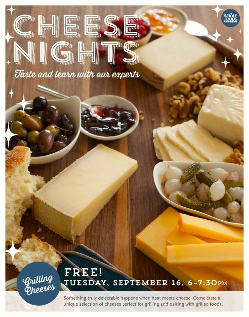 Free Cheese Nights: Grilled Cheese [Whole Foods]