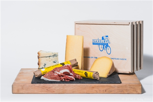 Cheese and Charcuterie Gift box:Photo courtesy of Saxelby Cheesemongers