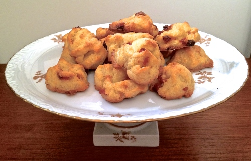 Gruyère and Andouille Gougères: Photo take by The House Mouse